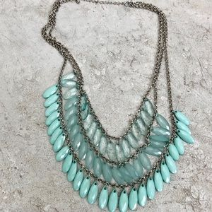 Light Aqua Blue Jewel Necklace